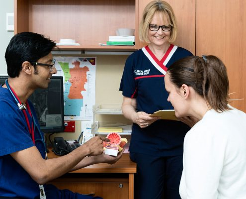 doctor and nurse in patient consultation